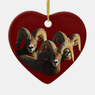 rams ceramic ornament