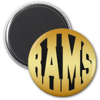 RAMS - GOLD TEXT MAGNETS
