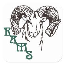 Rams Square Sticker