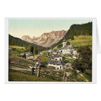 Ramsau, visión general, Baviera superior, Alemania Tarjeta De Felicitación