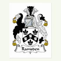 Ramsden Family Crest Postcard