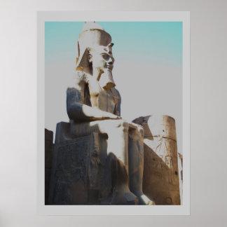 Ramses el grande - estatua del coloso de Ramesses  Póster