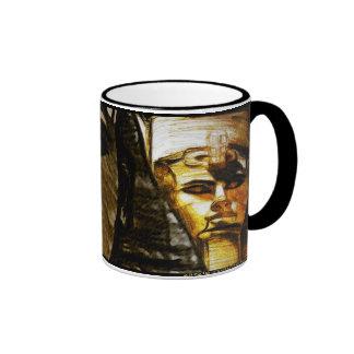 Ramses II between light and dark Ringer Coffee Mug
