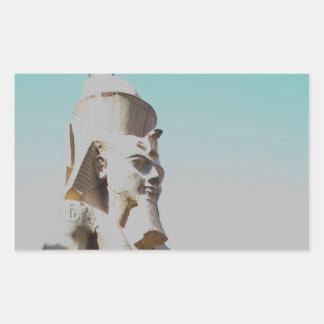 Ramses II Colossus - Luxor Temple photo Rectangular Sticker