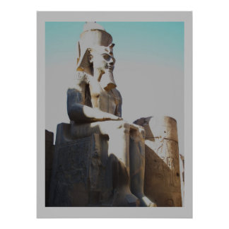 Ramses the Great - Ramesses II Colossus  statue Poster