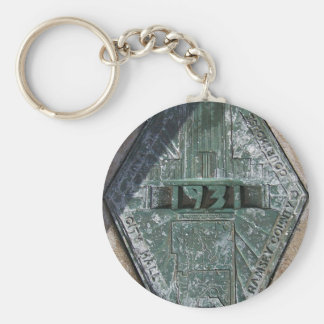 Ramsey County Court House Basic Round Button Keychain