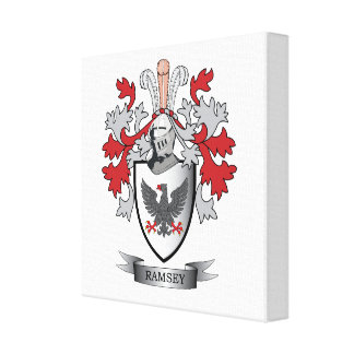 Ramsey Family Crest Coat of Arms Canvas Print