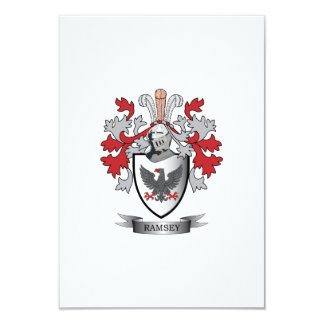 Ramsey Family Crest Coat of Arms Card