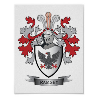 Ramsey Family Crest Coat of Arms Poster