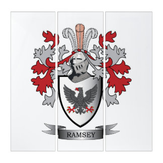Ramsey Family Crest Coat of Arms Triptych