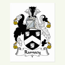 Ramsey Family Crest Postcard
