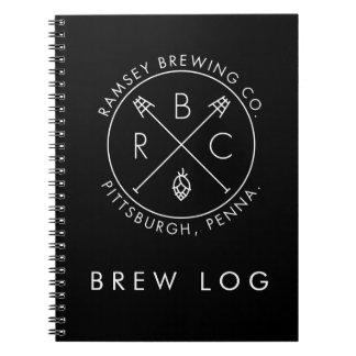 Ramsey que elabora cerveza el registro del Brew Cuadernos