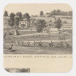 Ramsey, residencias de Williams Pegatina Cuadrada