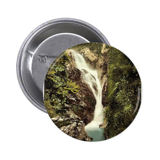 Ramsey, Sulby Glen, Upper Falls, Isle of Man, Engl Pinback Button