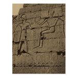 Ramusseum. Egipto circa 1867 Postal