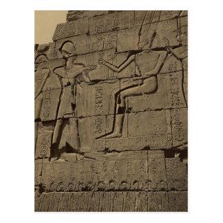 Ramusseum. Egypt circa 1867 Post Card
