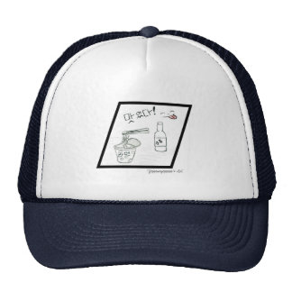Ramyeon & Soju [B&W] Trucker Hat