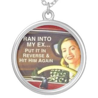 Ran into My EX Round Pendant Necklace