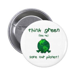 Rana ambiental del Día de la Tierra Pin