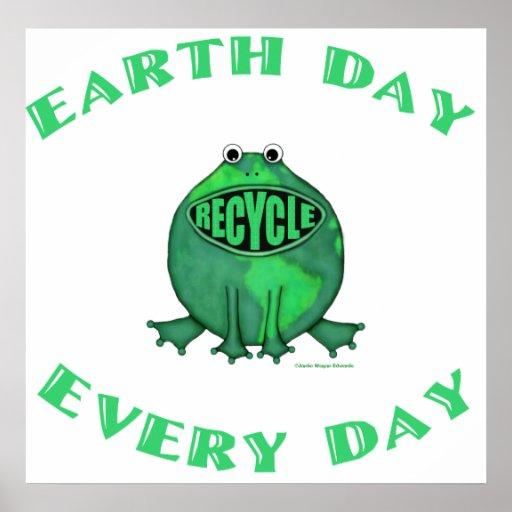 Rana ambiental del Día de la Tierra Poster