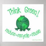 Rana ambiental del Día de la Tierra Posters
