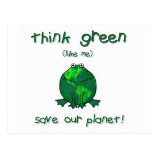 Rana ambiental del Día de la Tierra Tarjetas Postales