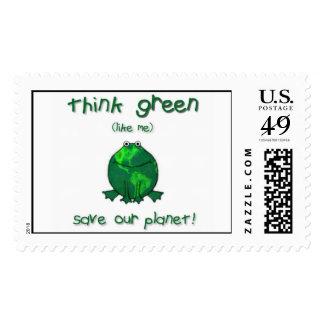 Rana ambiental del Día de la Tierra Timbre Postal