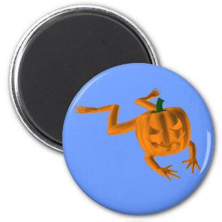 Rana anaranjada de Halloween Imán Redondo 5 Cm