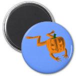 Rana anaranjada de Halloween Imán De Frigorífico