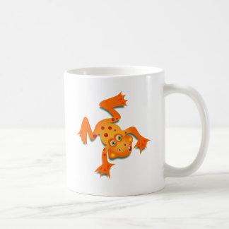 Rana anaranjada taza básica blanca