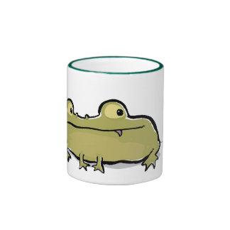 rana ancho-articulada tazas de café