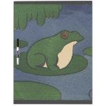 Rana - anticuaria, ejemplo de libro colorido pizarra
