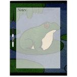 Rana - anticuaria, ejemplo de libro colorido pizarra blanca