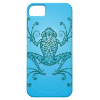 Rana arbórea azul clara compleja iPhone 5 fundas