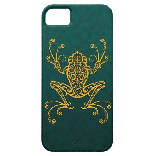 Rana arbórea azul de oro compleja iPhone 5 Case-Mate funda