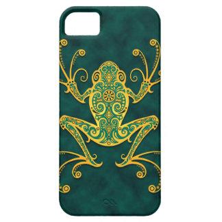 Rana arbórea azul de oro compleja iPhone 5 Case-Mate cobertura