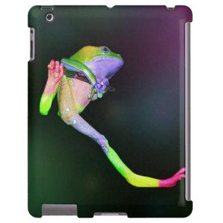 Rana arbórea cerosa gigante del mono del arco iris funda para iPad