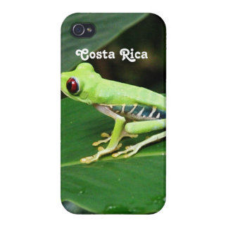 Rana arbórea de Costa Rica iPhone 4 Fundas