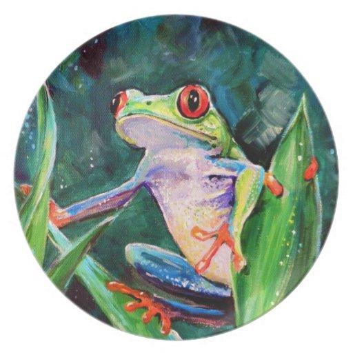 Rana arbórea de Costa Rica Plato Para Fiesta