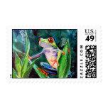 Rana arbórea de Costa Rica Sello Postal