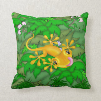 Rana arbórea de la selva hecha en la almohada de A
