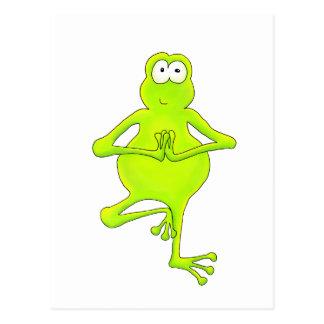 Rana arbórea de la yoga tarjeta postal