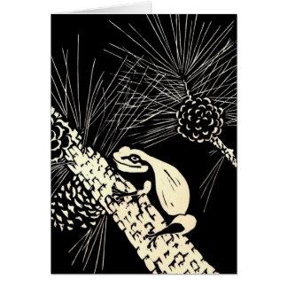 rana arbórea de los barrens del pino tarjeta de felicitación