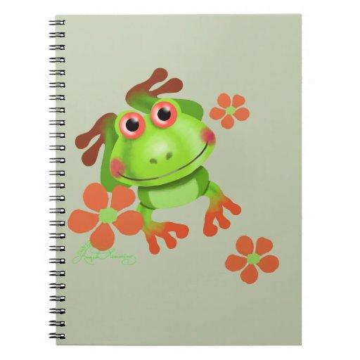 Rana arbórea divertida linda cuaderno