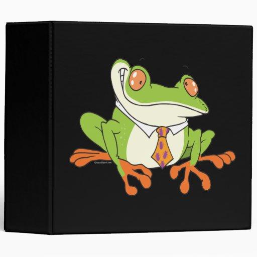 """rana arbórea divertida que lleva un dibujo animado carpeta 2"""""""