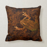 rana arbórea en diseño del animal de musgo almohadas