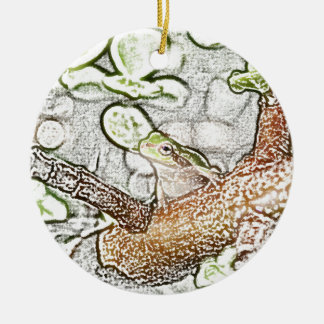 rana arbórea en el dibujo animal coloreado bonsais