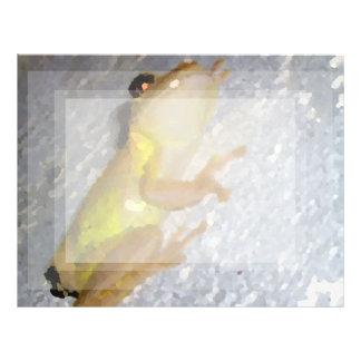 rana arbórea en estilo de la acuarela de la pared membrete personalizado