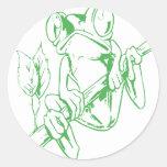 Rana arbórea etiqueta redonda