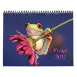 rana arbórea observada rojo, calendario de las